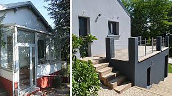 rénovation maison extérieur avant après