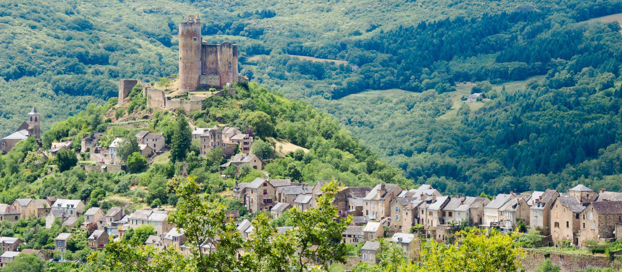 Architecte D Intérieur Aveyron najac, aveyron - vue d'ici